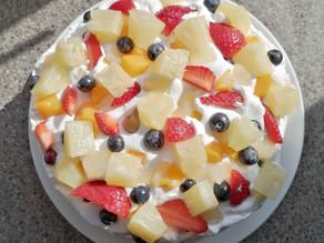 Mixed Fruit Cream Cake Recipe                (Gluten-Free)