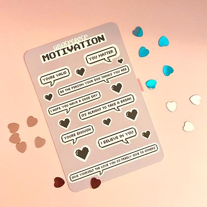 Undercover Motivation Pride Sticker Sheet