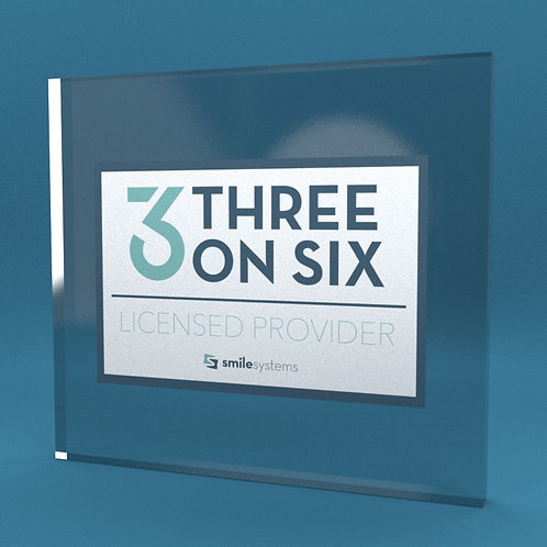 3 on 6 Licensed Provider Sticker, 10 pack