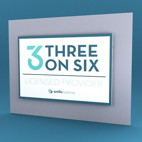 3 on 6 Licensed Provider Wall Plaque
