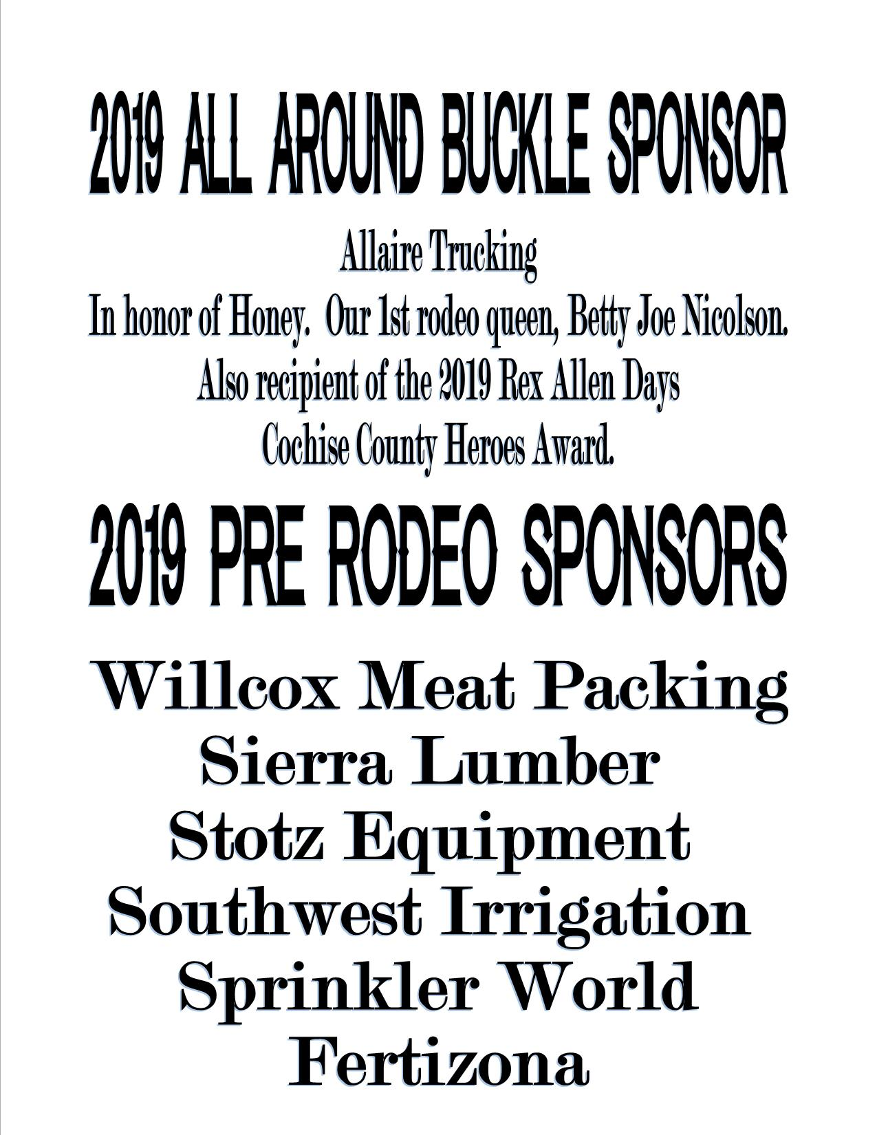2019 All around and Pre Rodeo