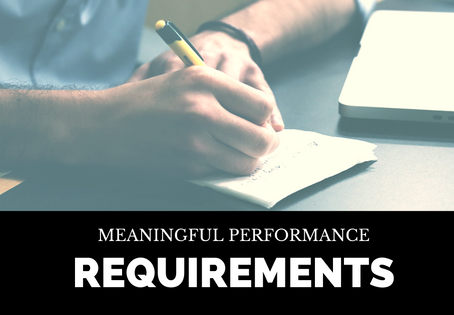 Meaningful Performance Requirements