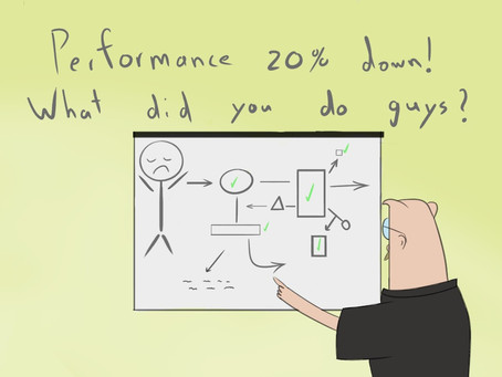 Performance 20 % down - What did you do guys?