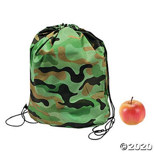 CAMO DRAWSTRING BAG 10PK
