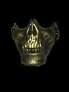 Half Skull Mask Gold