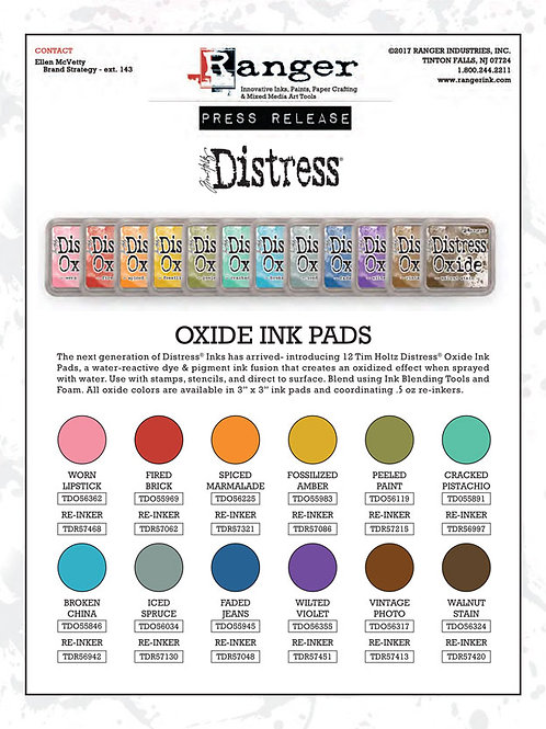FULL SET Tim Holtz Distress Oxides Ink pad all 12 colours