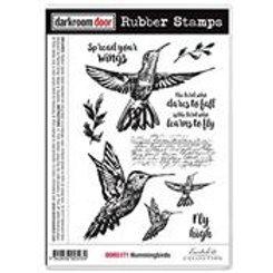 Hummingbirds stamp - Darkroom Door