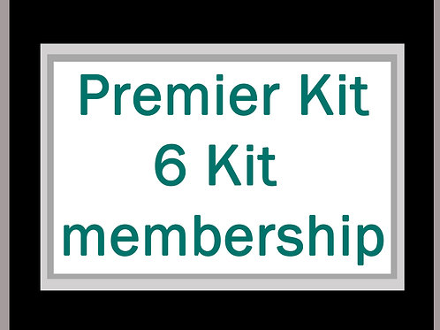 Premier Kit 6 Kit membership inc. postage* for 6 kits