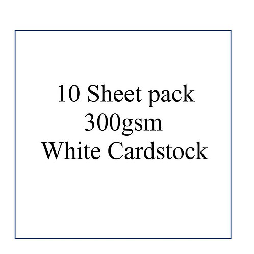 10pk 300gsm (extra Thick) White Cardstock 12 x 12""