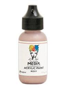 Dina Wakley Media Acrylic Paint Rosy 29ml