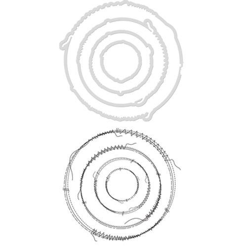 Decorative Die & Stamp Stitched Circles Kaisercraft DD941