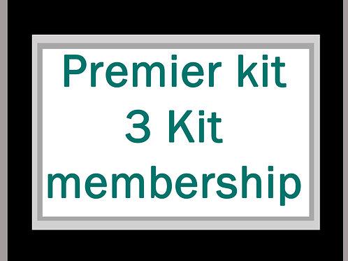 Premier Kit 3 Kit membership inc. postage* for 3 kits to NEW ZEALAND