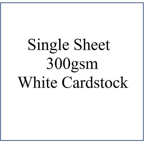 300gsm (extra Thick) White Cardstock 12 x 12""
