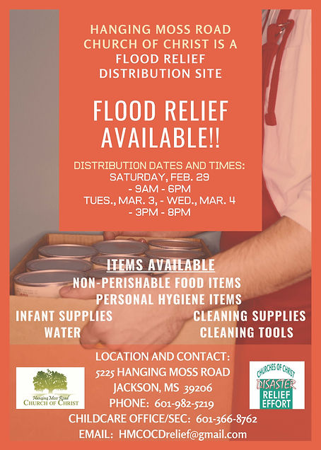 disaster relief flier for FB and webpage