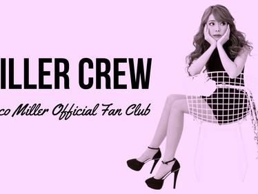 ユッコ・ミラー公式ファンクラブ「MILLER CREW」開設決定!
