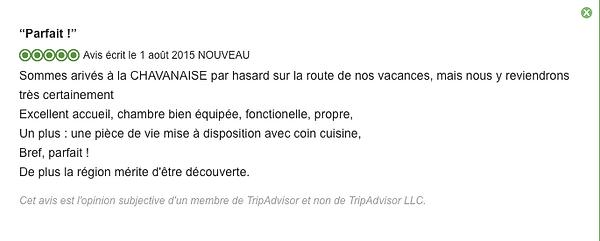 Avis La Chavanaise, Saint Bonnet de Chavagne (38840)