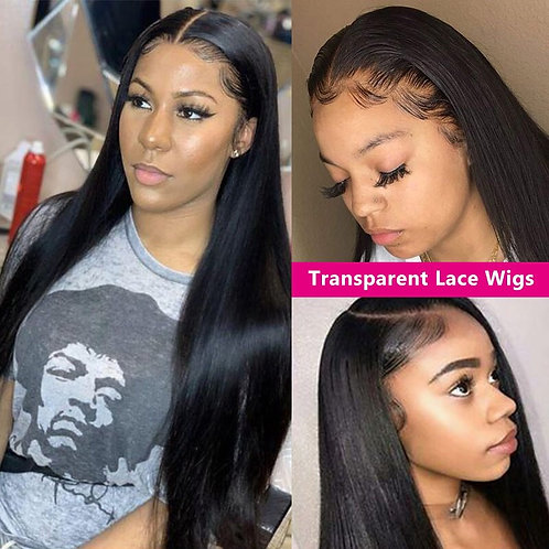 """Goddess Collection - Straight """"Transparent lace Wig"""""""