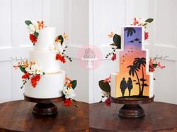 'Hidden Scene' Wedding Cake