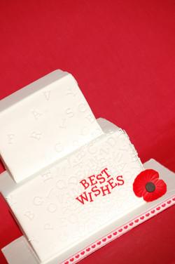 Letters Bridal Shower Cake