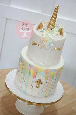 Unicorn Baptism Cake