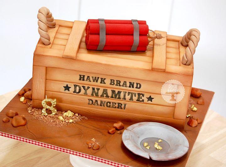 Dynamite Crate Cake