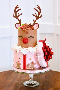 Rudolph Gift Box Cake