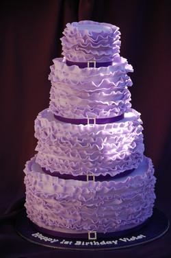 Violet Ruffles Cake