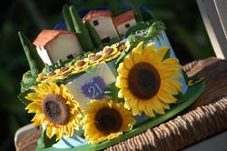 Sunflower Anniversary Cake