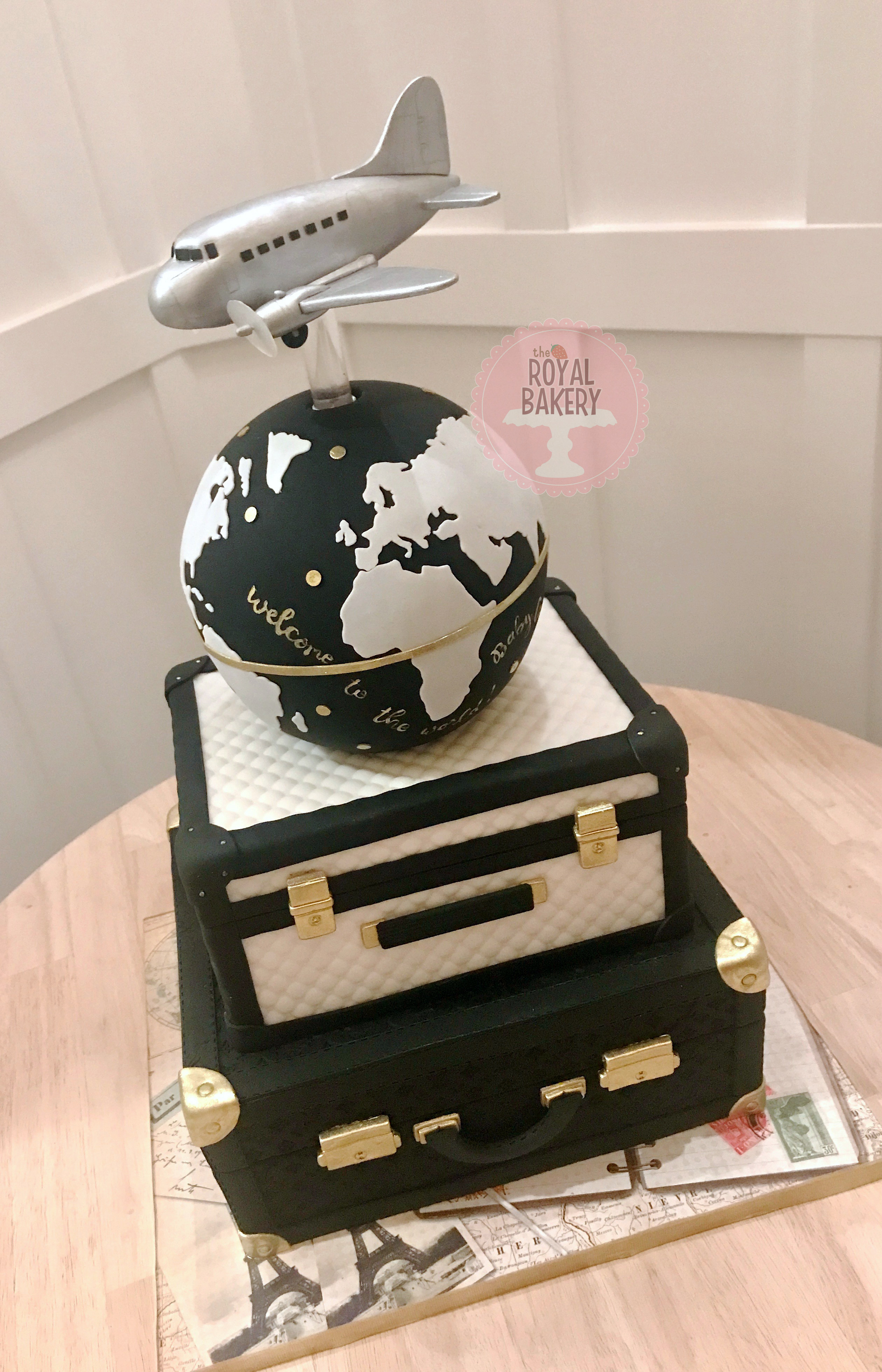 Fashion and Travel Baby Shower Cake