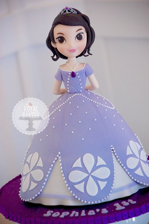 Personalized Sofia the First Cake