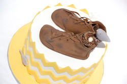 Vintage Shoes Baby Shower Cake