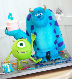 Monsters, Inc Sculpted Cake