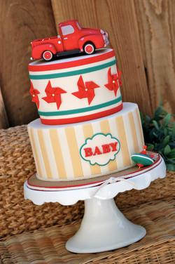Vintage Toys Baby Shower Cake