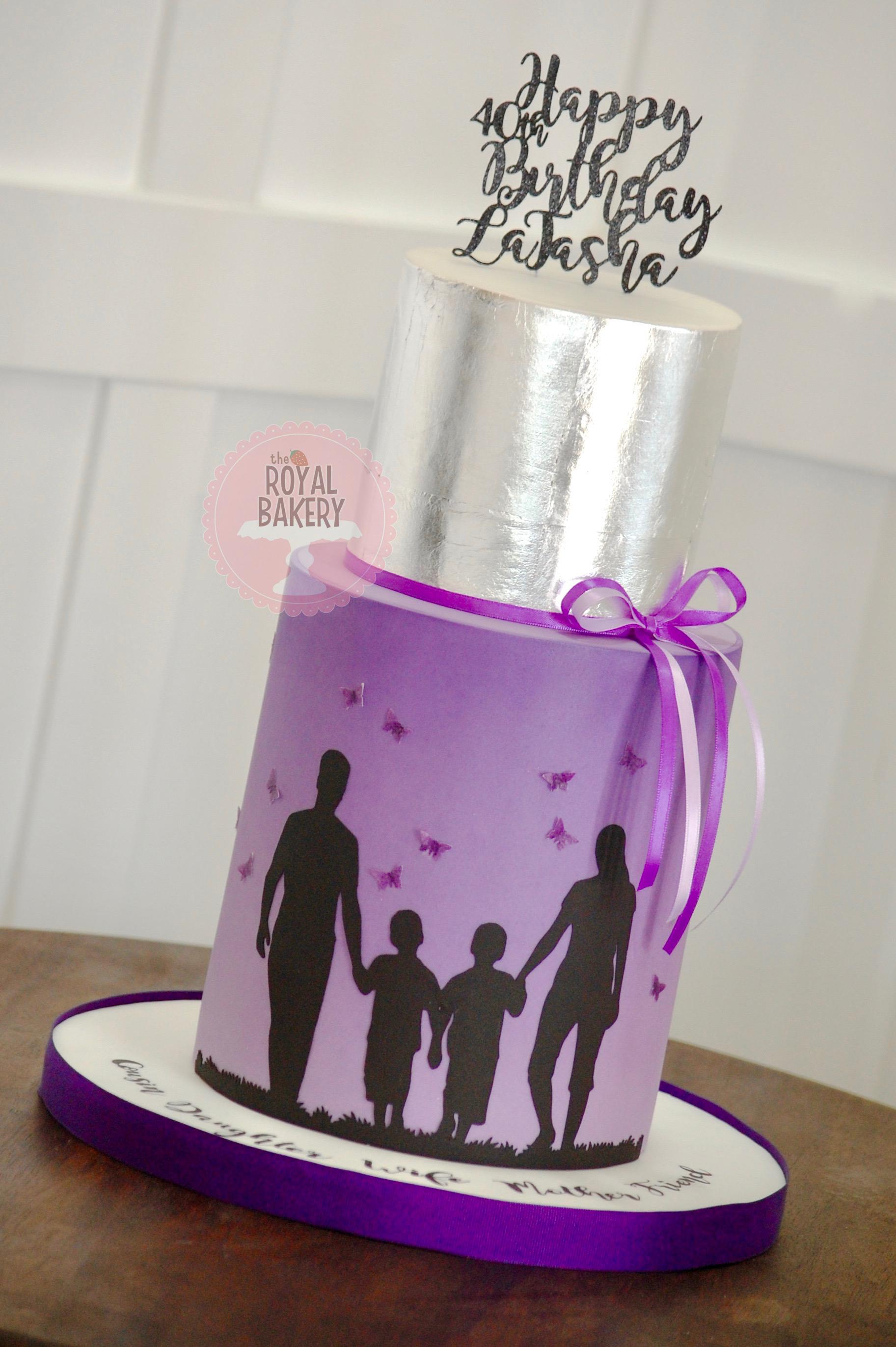Family Silhouette Cake