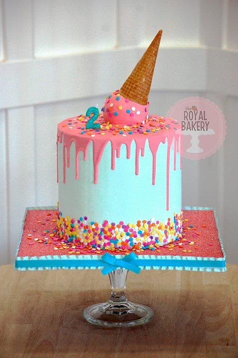 Drippy Confetti Cake