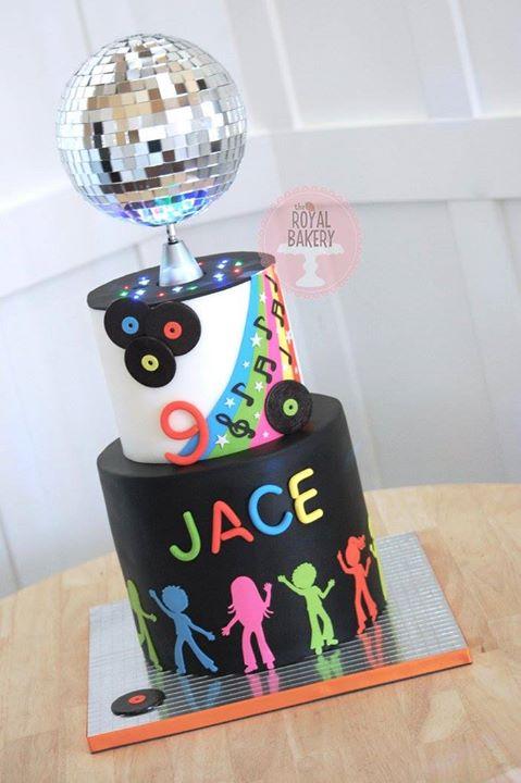 Glow in the Dark Disco Cake