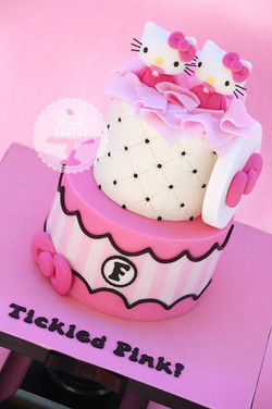 Twin Hello Kitty Shower Cake