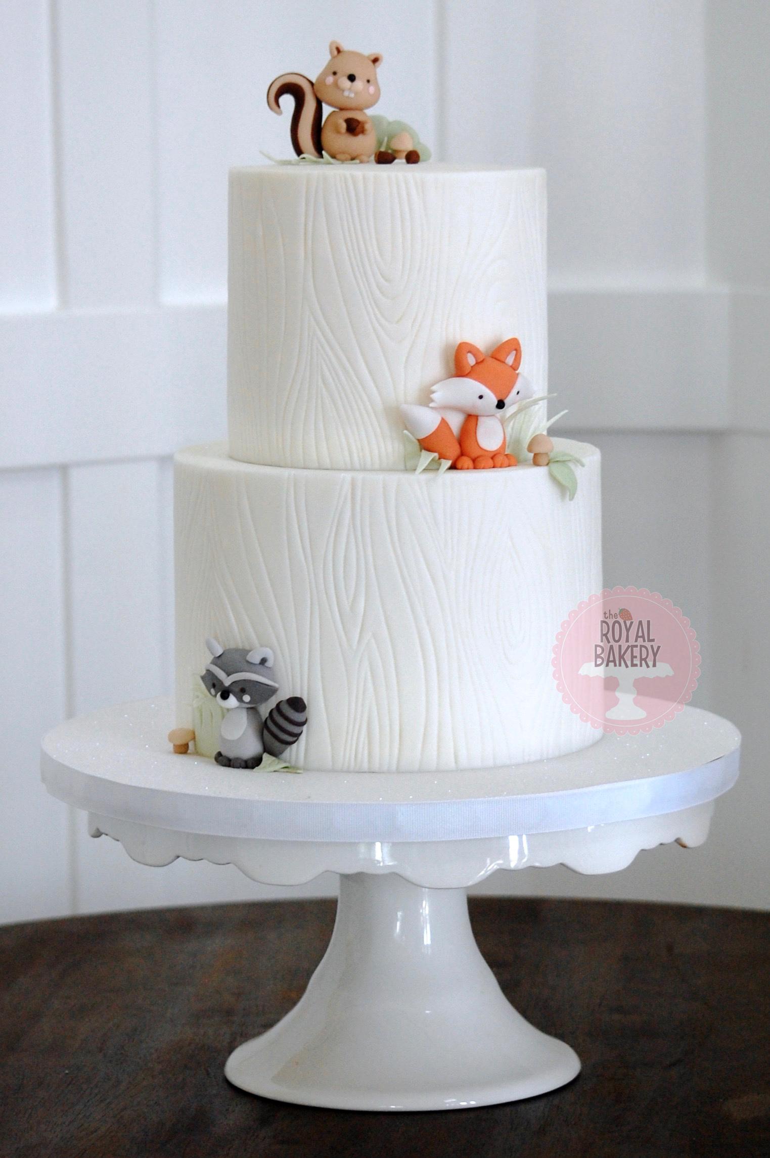 Critter Baby Shower Cake