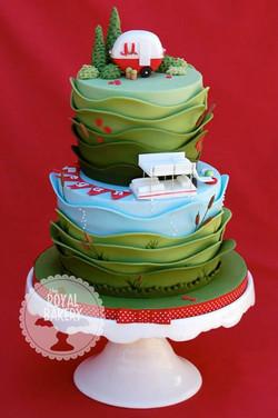 Glamping Bridal Shower Cake
