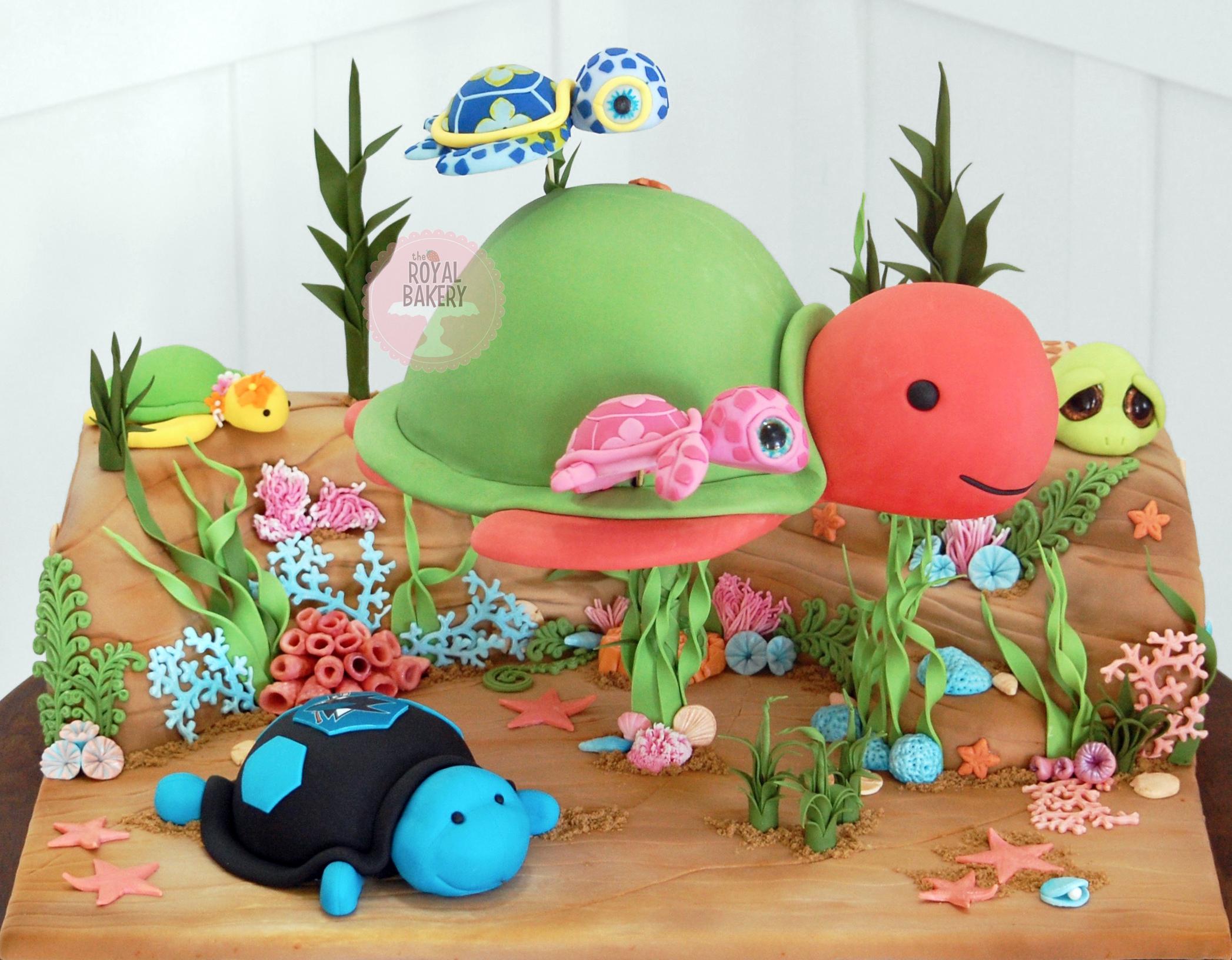 Sea Turtle Toys Cake