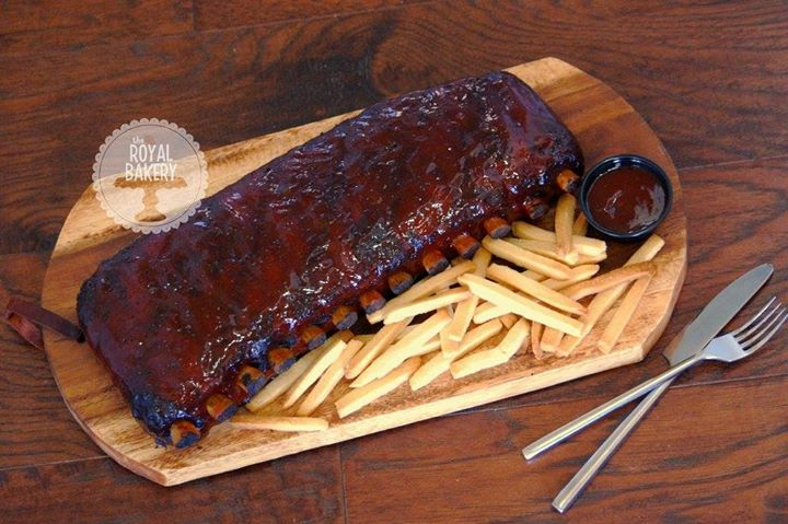 Ribs and Fries Cake