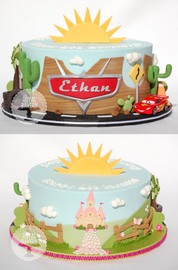 Double Sided Cars and Princess Cake