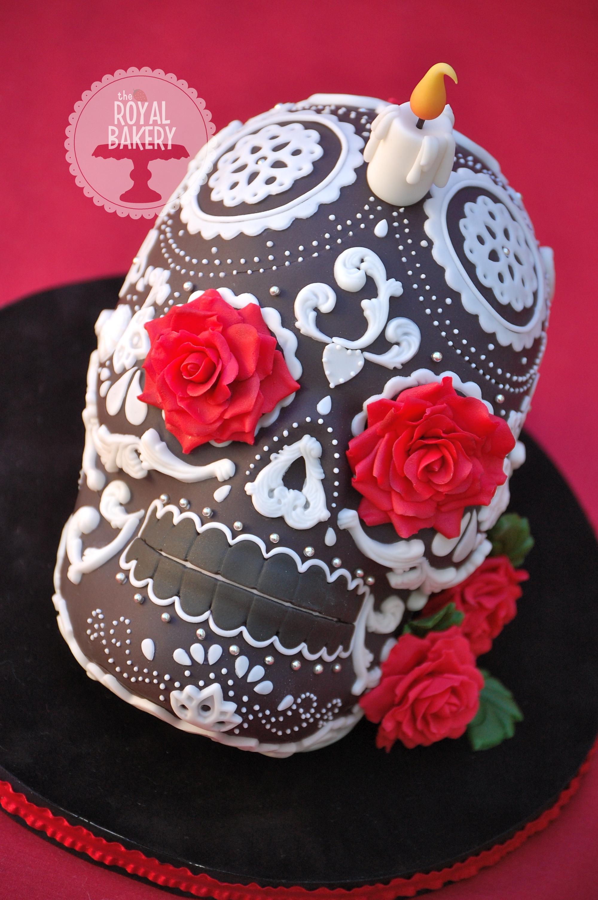 Sugar Skull Halloween Cake