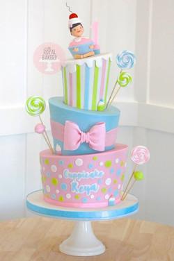 Topsy Turvy Sweets Cake