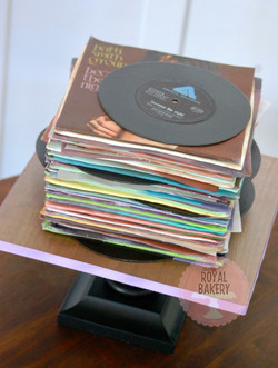 Stack of 45s Cake