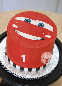Lightning McQueen Smash Cake