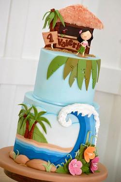 Hawaii Beach Cake
