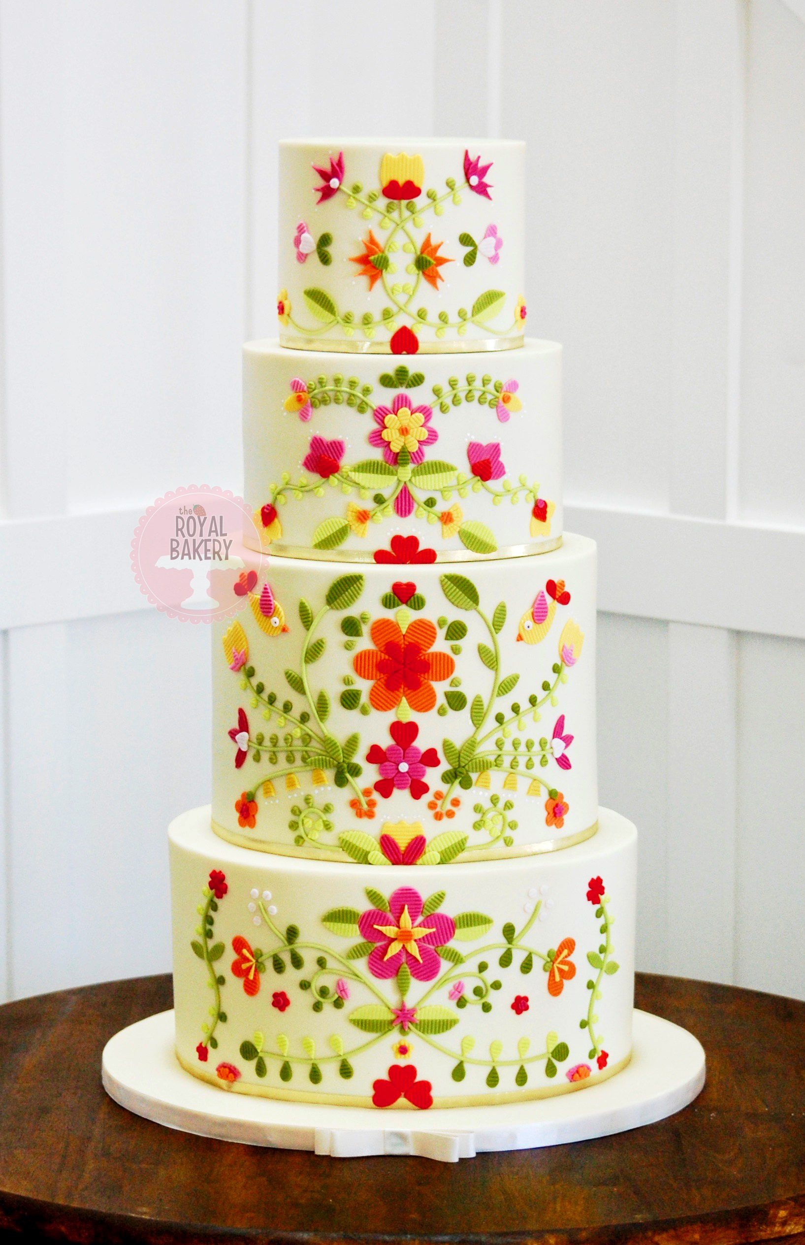 Mexican Embroidery Quinceañera Cake