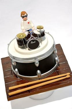 Drum Kit Groom's Cake