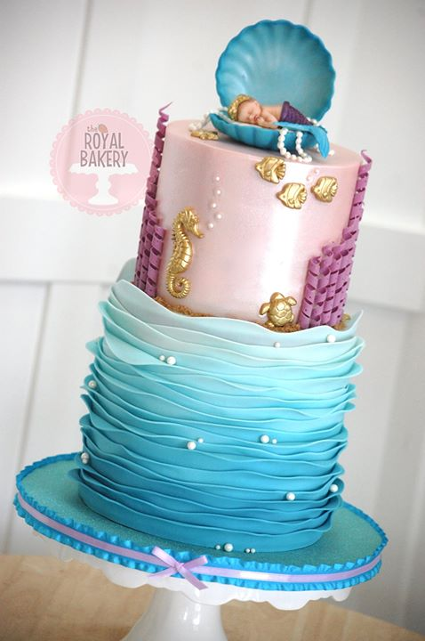 Mermaid Baby Shower Cake